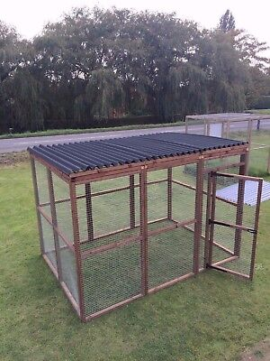 COVERED WALK IN Animal Run 6ft x 9ft Strong 16G Dog Cat Chicken Pet  Enclosure