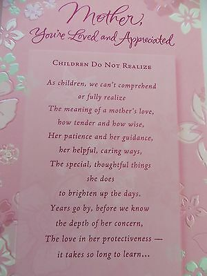 New American Greetings Card Happy Birthday Mother Pink Floral