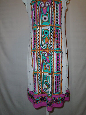 ECI Womans Multi Color Floral Beaded Dress Size 10 7