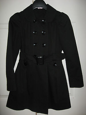New Girls Clothes Black School Uniform Coat Fashion Double Breasted 15-16 Years 4