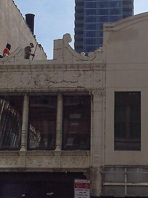 3 Story Terra Cotta Building Facade Front Cherubs Dolphins 35 Feet Tall 10