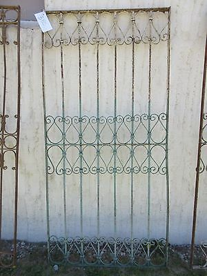Antique Victorian Iron Gate Window Garden Fence Architectural Salvage Door #380 6