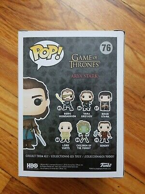 Funko Pop Game Of Thrones #76 Arya Stark ECCC Shared Exclusive Box lunch GOT 3