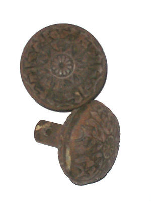 Antique Victorian Eastlake Door Knob Set  (2knobs)