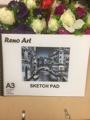 A3 Sketch Pad 140gsm Atrist Painting Art Paper Sketchbook  Drawing Craft Pastel 2