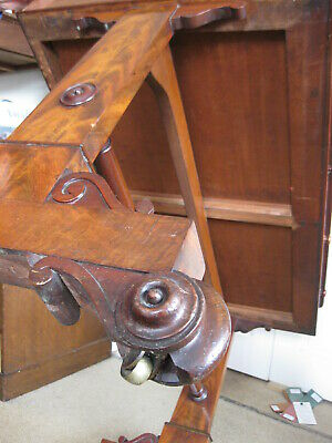 Antique Victorian Walnut Library Leather Top Table / Writing Sofa /Stunning Desk 10