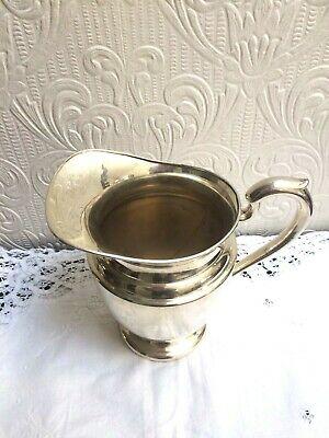 Vintage Mid Century PSCO Preisner Silver Co. Silverplate On Copper Water Pitcher 4