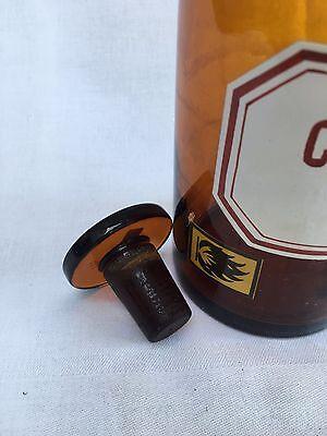 alte Apothekerflasche Braunglas Gefäß Apotheke 18cm Chelidonium #45