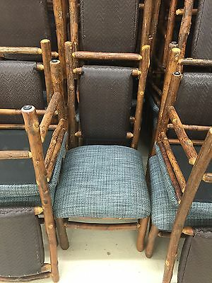 6 Old Hickory Furniture Original Dining Chair Blue Wilderness Lodge