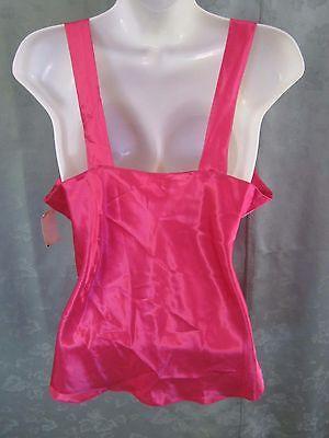 Vintage Lucie Ann II Camisole Top Size 38 Magenta Satin NOS