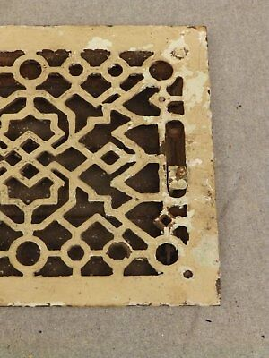 Antique Cast Iron Heat Grate Register Vent Old Vintage Hardware 640-16