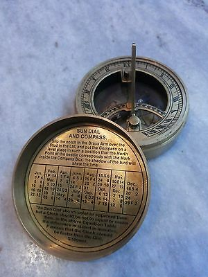 Antique Solid Brass Sundial Compass Marine Compass The Mary Rose 4 • CAD $24.24
