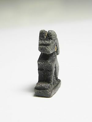 Zurqieh -Ancient Egypt - New Kingdom Glass Amulet Of A Cat, 1400 B.c 3
