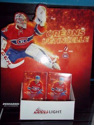 Montreal Canadiens Molson Pocket Schedule & Display Rack Nhl Hockey See List 7