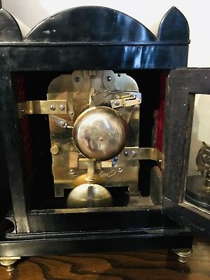 Twin Fusee London English Barwise antique bracket clock Twin Fusee Scarce 7