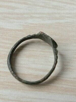 Bronze ring of the ancient Vikings. 7