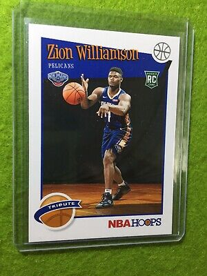ZION WILLIAMSON ROOKIE CARD JERSEY #1 PELICANS RC 2019-20 Panini HOOPS rookie rc 8
