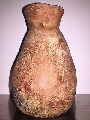 Moche, Dignitary red ware vessel (100-800 AD), Peru 4.5 in L 6.5 in H 4.25 in D 3