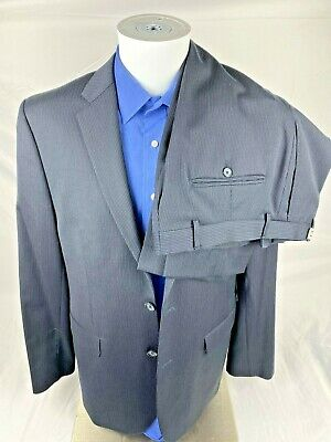 Joe Joseph Abboud Mens Large Dress Suits Navy Blue Pin Stripe 7