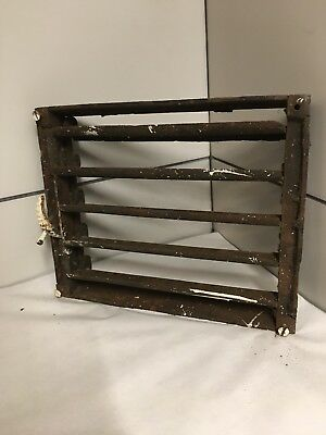Antique Cast Iron  Grate Heating Duct Wall Box Only For Projected Grill Item#88 4