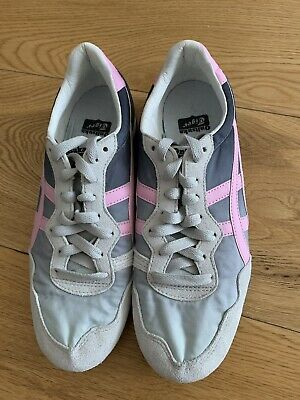 Onitsuka tiger Women Serrano Grey Pink New Size Trainers UK 3.5 USA 5.5 Rrp £80 3
