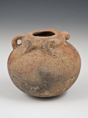 Small Narino Pre-Columbian Pot with Frog or Lizard Motif, Ecuador 4