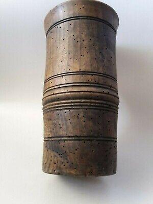 original antiker Apotheker Holz Mörser Stössel Pistill wohl Nussbaum 18. Jhd. 8
