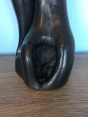 Huge Antique Wood Double Phallus Fertility Display Piece From Burma. 45cm High 3