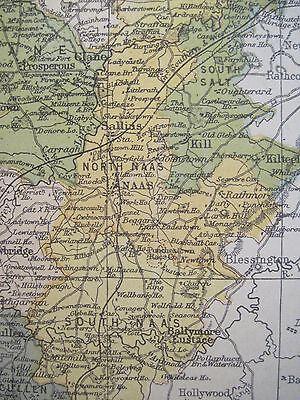 Irish Map County Kildare Ireland Mtns Celbridge Naas Colored Pw