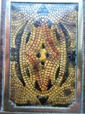Superbe Poudrier Art Déco avec miroir, laiton doré et galuchat? 3