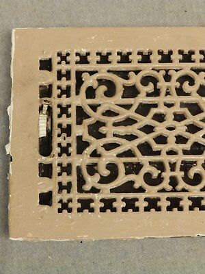 Antique Cast Iron Victorian Heat Grate Register Vent Old Vtg Hardware 619-16 3