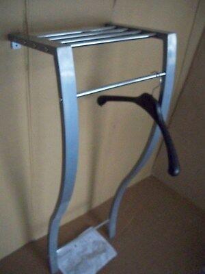 Wandgarderobe  Garderobe mit Hutablage XL Metall Crom 4