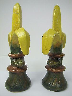 Old Pair Fleur De Lis Cast Iron Figural Finials nos architectural hardware 10