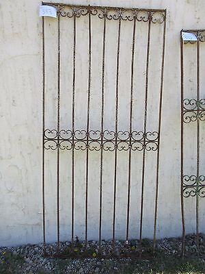 Antique Victorian Iron Gate Window Garden Fence Architectural Salvage Door #383 5