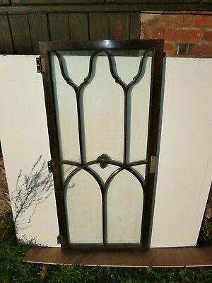 Pair of antique Cuban Mahogany astral glazed cupboard doors 8