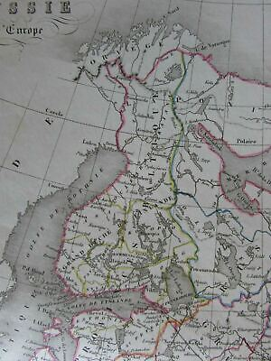 Russia in Europe St. Petersburg Moscow Black Sea c.1860 engraved hand color map 2