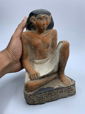 ANCIENT EGYPT EGYPTIAN GOD ANTIQUES Statue Pharaoh Crved Stone BC 6
