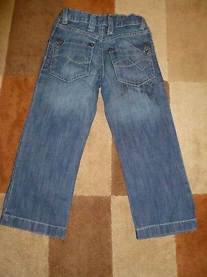 Kid's (5 yrs) Distressed Look Jeans with Studs by Matalan (Very Good Condition) 4