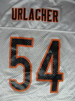 ... Brian Urlacher 54 Chicago Bears Football Jersey White Sewn Youth XL 18  20 NFL 2 8c03c174d