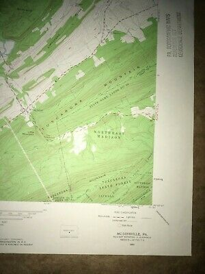 McCoysville PA. Juniata Co USGS Topographical Geological Survey Quadrangle Map 5