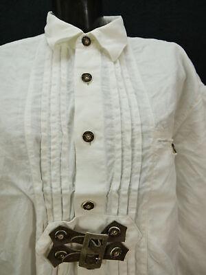 Gr.XL Trachtenhemd Alpenland Baumwolle mit Lederriegel Trachten Hemd TH1542 2