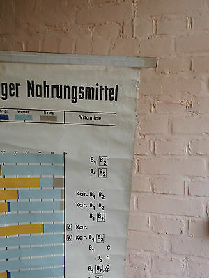 1 x Zusammens. Nährstoffe / Lehrkarte (1379), gebr.Logo Deut. Hyg. Mus. Dresden