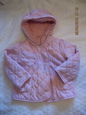 Baby Gap Lovely Pink  Quilted Spring/Summer Lightly Padded Coat Jacket  2T(#090) 2