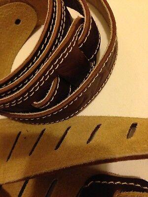 Premium Leder-Gitarrengurt Leather Guitar Strap Vegetabil Gegerbt Handmade in EU