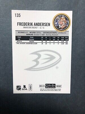 2014-15 OPC Platinum Base Traxx Parallel #135 Fredy Anderson Toronto Maple leafs 6