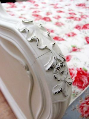 Stunning Antique French Double Rococo Crested Bed - C1920 5
