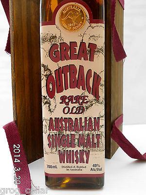 Great Outback Rare Old Australian Single Malt Whisky-Rare!!!!!!!!! 3