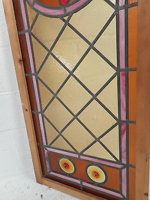 Vintage Stained Glass Window Panel (3052)NJ 7