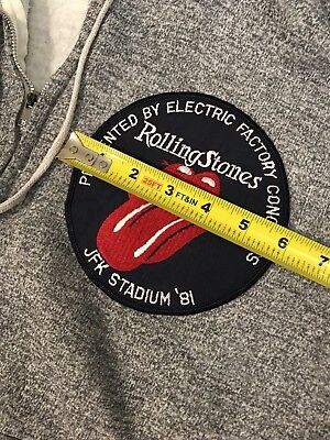 Vintage Rolling Stones 1981 Jfk Stadium Official Patch On