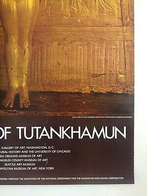"Rare Vintage 1976 ""Treasures Of Tutankhamun"" Iconic Lrg Museum Exhibition Poster 8"